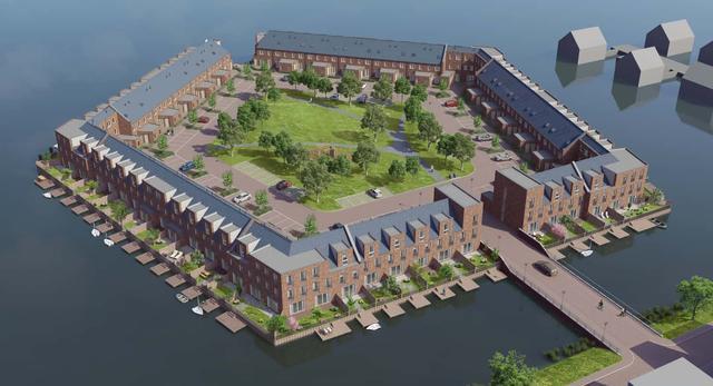 Domy na wodzie, Holandia