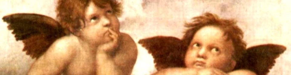 Putta (fragment obrazu Madonna Sykstyńska Rafaela)